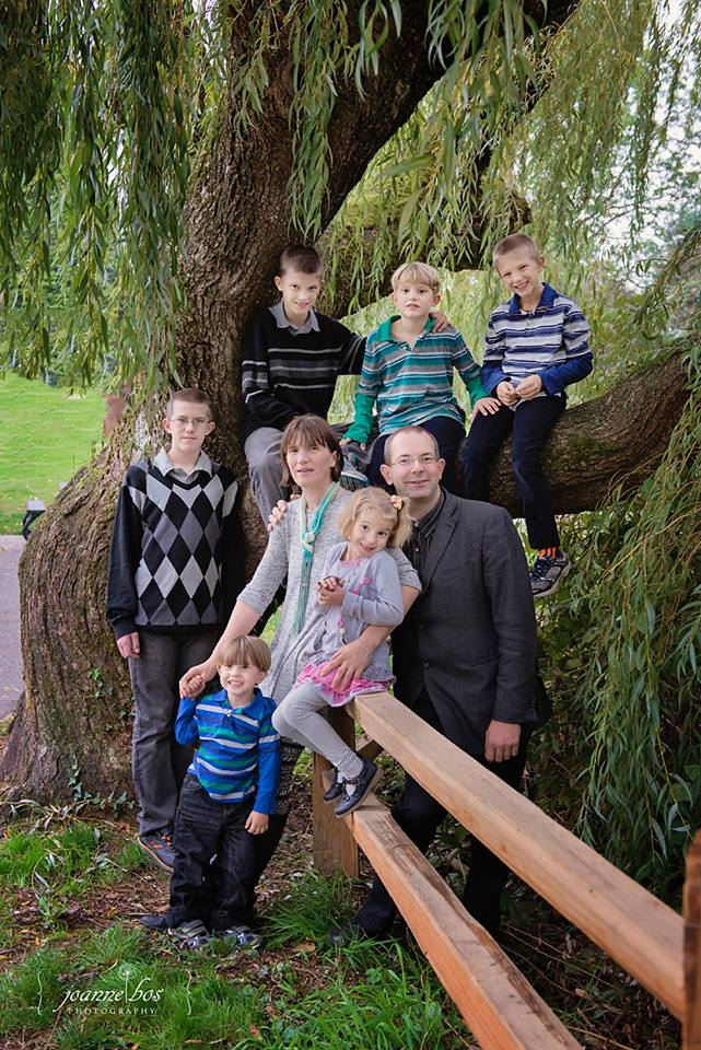 Annet Janssen lives in Abbotsford, B.C. with her husband and six children. (Joanne Bos).