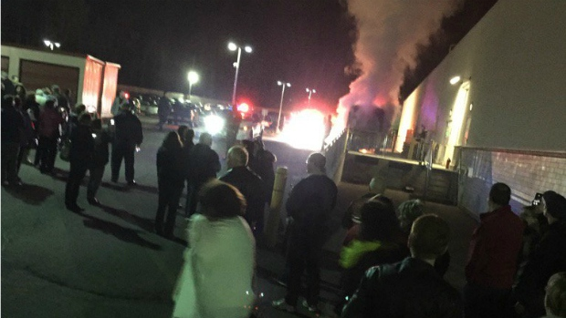 Whoopi bus fire Moncton