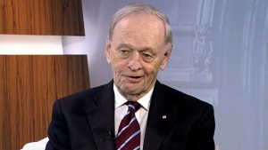 Former prime minister Jean Chretien speaks to CTV's Question Period on Oct. 25, 2015.
