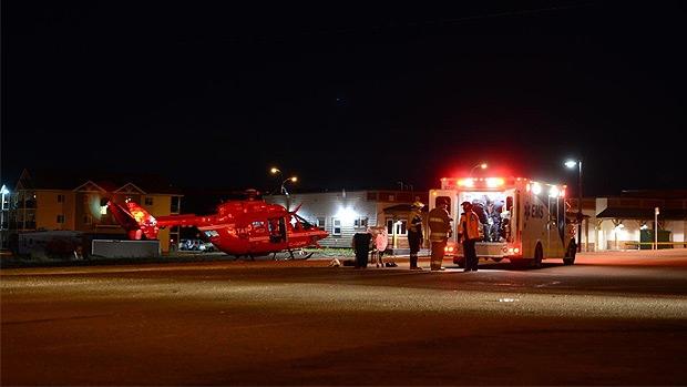 STARS responds to scene of alleged stabbing in Sexsmith, Alberta. (Credit: William Vavrek)