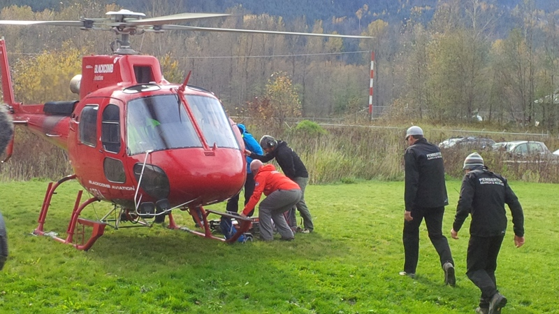 A search crew deploys to find Michael Charles Low on a Pemberton mountain on Oct. 25, 2015. (Peter Grainger/CTV)