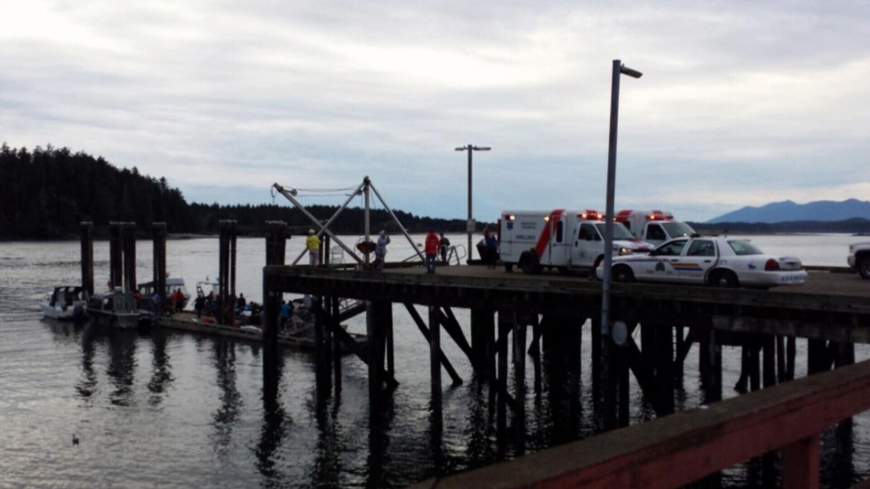 A tour boat carrying 27 people sunk off the coast of Tofino, B.C., on Oct. 25, 2015, prompting a massive rescue effort. (Rami Touffaha/Burnaby Tours & Charters)