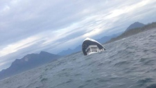 Boat carrying 27 capsizes near Tofino