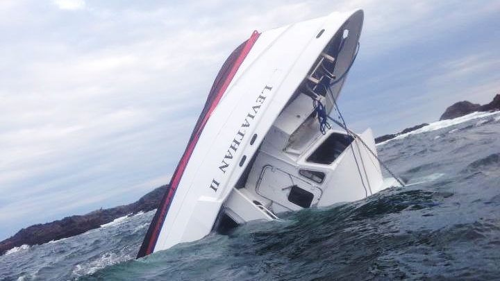 A which was boat carrying 27 people capsized off the coast of Tofino, B.C., on Sunday, Oct. 25, 2015. (Daniel Frank)