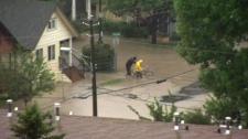 Flood waters inundate Calgary June 2013