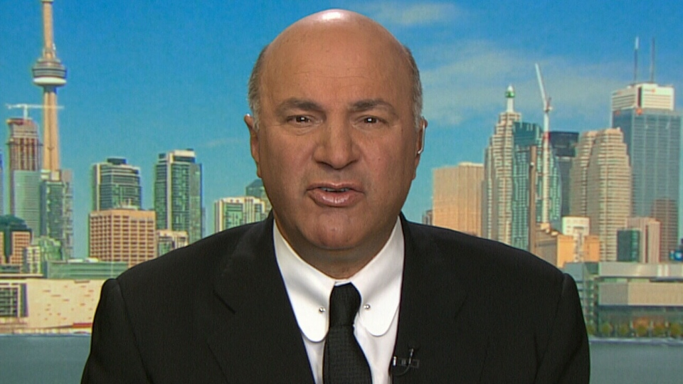 Kevin O'Leary speaks to CTV News Channel from a studio in Toronto, on Monday, Oct. 26, 2015.
