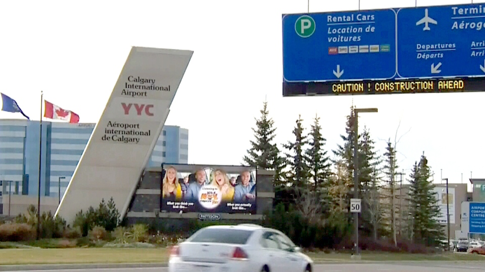 The Calgary International Airport is pictured in this undated file photo.