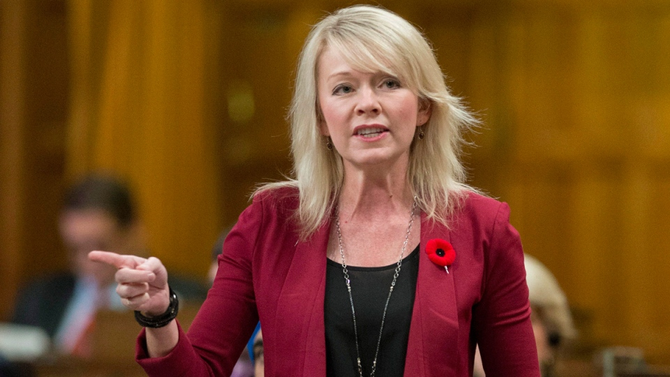 Candice Bergen rises during question period in the House of Commons in Ottawa on Nov. 7, 2014. (Justin Tang / THE CANADIAN PRESS)