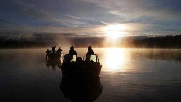 Brisk Sunday morning fishing