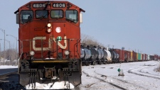 CN rail locomotive