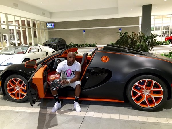 Boxer Floyd Mayweather Jr. Adds To Sports Car Collection, Buys $3.5 Million  Bugatti