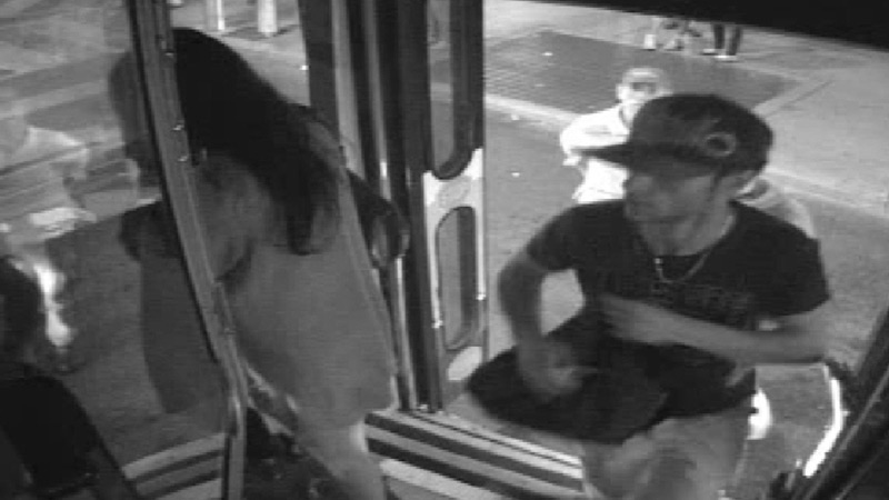Sammy Yatim boards a streetcar in Toronto on July 26, 2013 in this still taken from court handout surveillance video. (Ontario Superior Court of Justice)