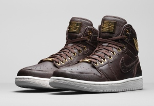 In this image released by Nike, the Air Jordan 1 Pinacle 'Baroque Brown' design is shown.