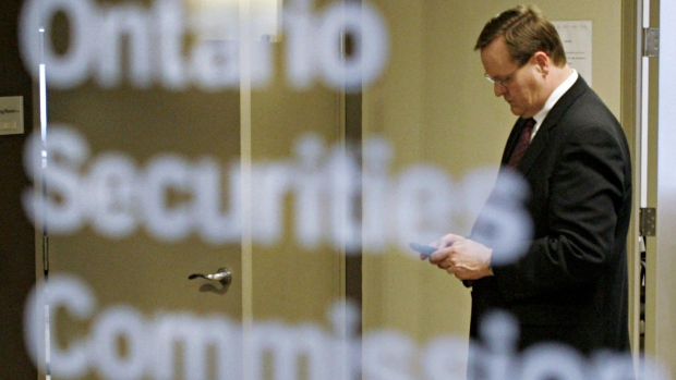 At the Ontario Securities Commission in Toronto on March 21, 2005. (Adrian Wyld / CANADIAN PRESS)