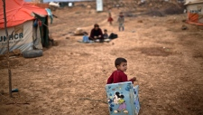 Syrian refugee boy in Jordan