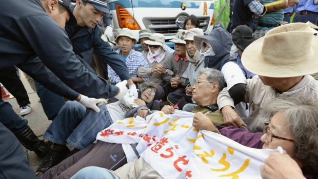 Protests over Okinawa base construction
