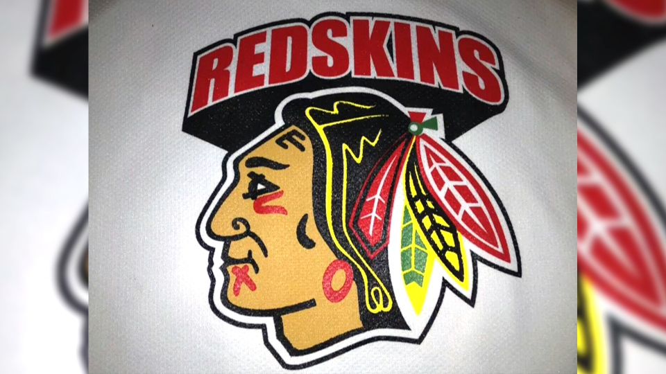 The Morden Redskins logo is shown in this photo.
