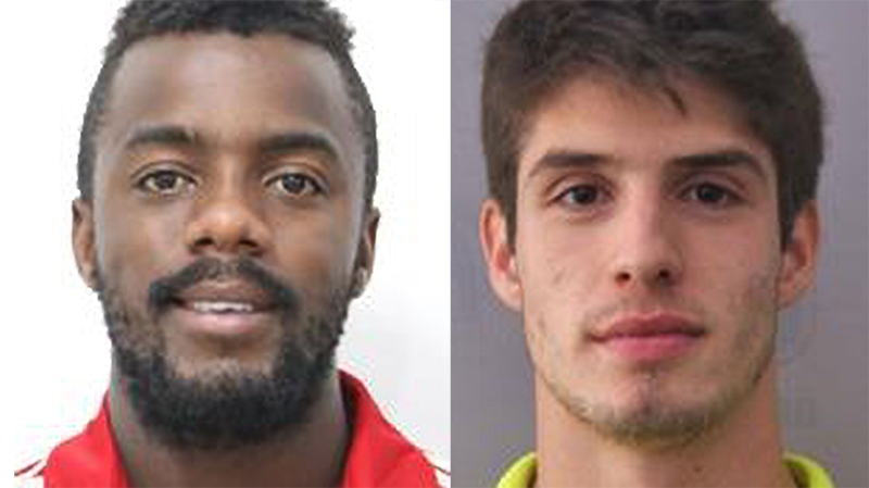 Toronto Police have issued arrest warrants for Pan Am Games athletes 22-year-old Andrey Da Silva Ventura, left, and 21-year-old Lucas Domingues Piazon.
