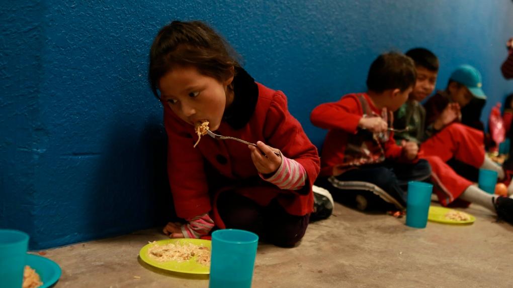 Migrant children arriving alone