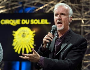 Director James Cameron speaks at a news conference announcing a new show by Cirque du Soleil based on his movie 'Avatar' on Thursday, May 29, 2014 in Montreal. (Ryan Remiorz/AP Photo/The Canadian Press)