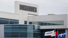 A Bombardier plant is shown in Montreal