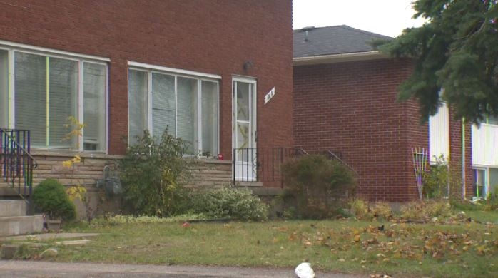 A house on Weber St. where four people suffered stab wounds on Oct. 31, 2015. (Allison Tanner / CTV Kitchener)