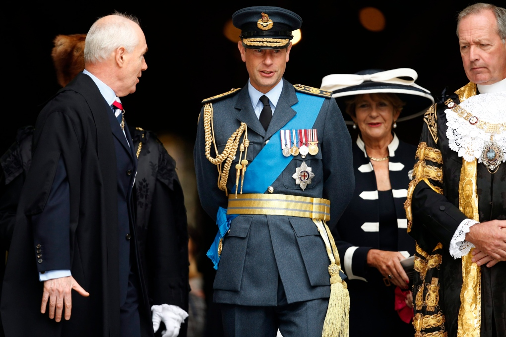 Britain's Prince Edward visiting East Coast