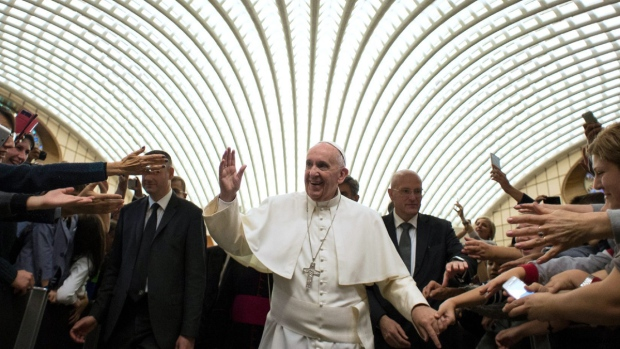 Pope Francis at the Vatican, on Oct. 31, 2015. (L'Osservatore Romano / AP)