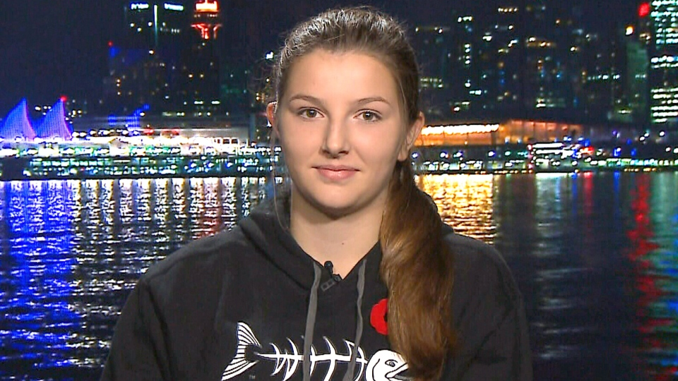 Freyja Reed appears on Canada AM from CTV studios in Vancouver, Monday, Nov. 2, 2015.