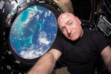 Scott Kelly at International Space Station