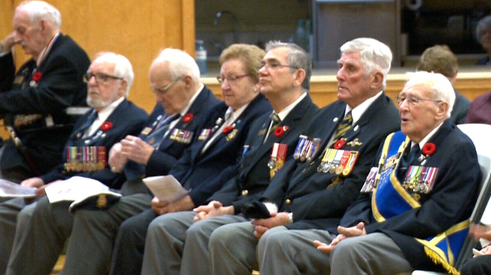 Veterans in Halifax attended a tribute concert over the weekend, where a choir sang songs that became wartime anthems while Canadian soldiers served overseas in the Second World War.