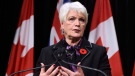 Ontario Education Minister Liz Sandals gives an update on labour negotiations with the Elementary Teachers Federation of Ontario at Queens Park in Toronto, Monday, Nov.2, 2015. (Frank Gunn / THE CANADIAN PRESS)