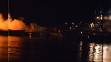 Cowichan Bay boat fire