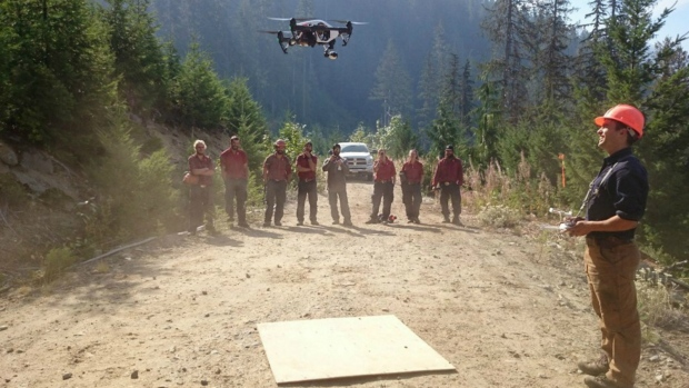 Drones tested during BC wildfires
