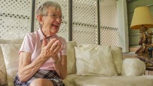 Mary Helen Abbott, 77, in Cutler Bay, Fla., on  Oct. 9, 2015 (FEDERICA NARANCIO / AFP)