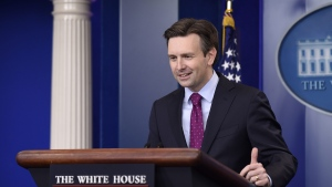 White House press secretary Josh Earnest speaks during the daily briefing at the White House in Washington, on Tuesday, Nov. 3, 2015. (AP Photo/Susan Walsh)