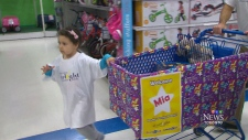 Transplant survivor treated to toy shopping spree