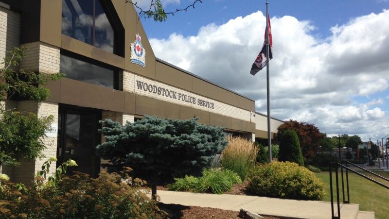 The Woodstock Police Service building is pictured on Wednesday, Aug. 5, 2015. (Max Wark / CTV Kitchener)