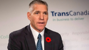 TransCanada's President and CEO Russ Girling attends a news conference in Toronto on Thursday, Oct. 30, 2014. (Chris Young / THE CANADIAN PRESS)