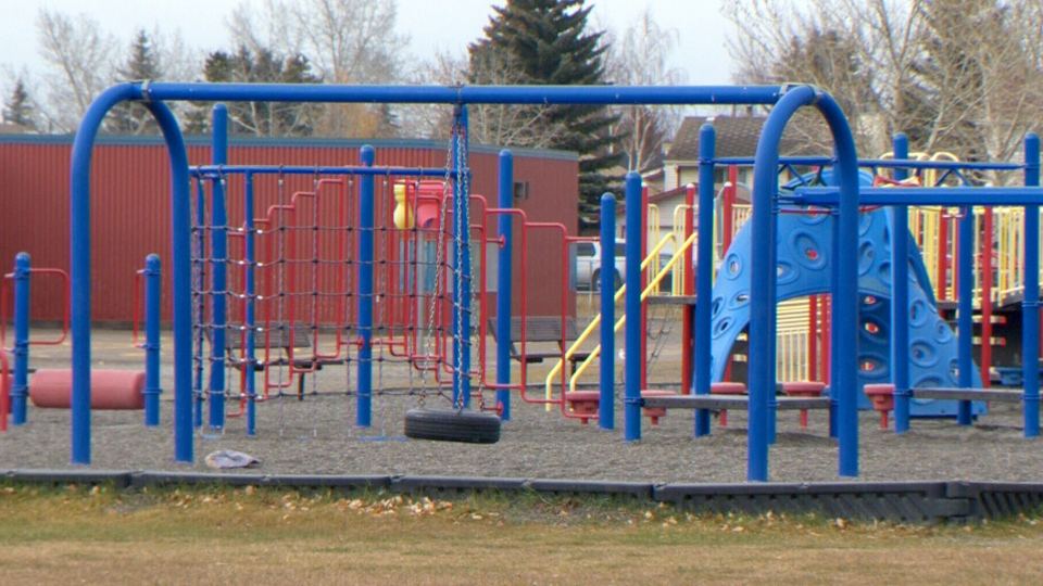 A six-year-old Calgary girl choked on playground