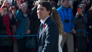 Prime minister-designate Justin Trudeau arrives at Rideau Hall for the swearing-in ceremony in Ottawa on Wednesday, Nov. 4, 2015. (Justin Tang / THE CANADIAN PRESS)
