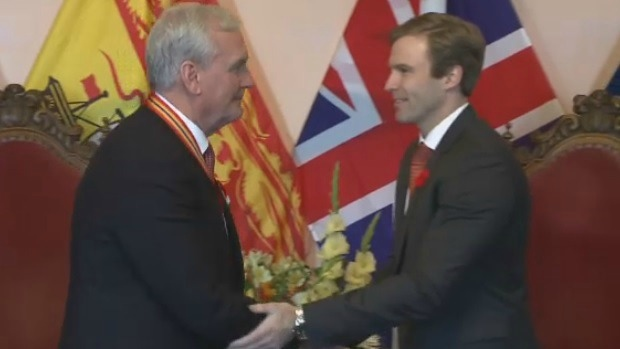 Kevin Vickers receives the 2015 Order of New Brunswick.