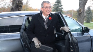 Newfoundland and Labrador Premier Paul Davis arrives at Government House to meet with Lt. Gov. Frank Fagan to call a provincial election, in St.John's, Nfld., on Thursday, Nov.5, 2015. (THE CANADIAN PRESS/Keith Gosse)