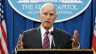 Gov. Jerry Brown gestures during a news conference, in Sacramento, Calif., on Wednesday, Sept. 9, 2015. (AP Photo/Rich Pedroncelli, File)