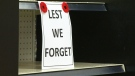 A Manitoba store is paying tribute to Veterans by not displaying Christmas decorations until after Remembrance Day.