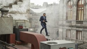 Daniel Craig as James Bond in Mexico City. (Jonathan Olly / Columbia Pictures)