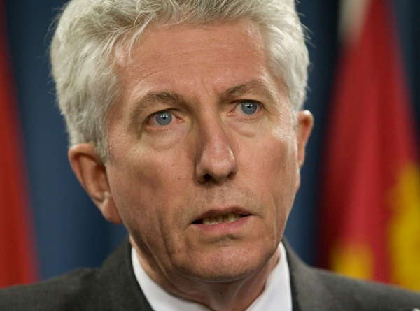 Bloc Quebecois Leader Gilles Duceppe responds to Harper's televised speech to the nation on Parliament Hill in Ottawa, Wednesday Dec. 3, 2008. (Adrian Wyld / THE CANADIAN PRESS)