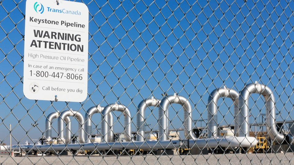 The Keystone Steele City pumping station, into which the planned Keystone XL pipeline was to connect to, is seen in Steele City, Neb., Nov. 3, 2015. (AP / Nati Harnik)
