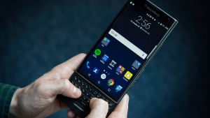 The BlackBerry Priv is shown in Toronto, Friday, Oct. 30, 2015. (Graeme Roy / THE CANADIAN PRESS)