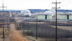 The Enbridge pipeline facility in Hardisty, Alta., is seen on Friday, Nov. 6, 2015. (THE CANADIAN PRESS/Jeff McIntosh)